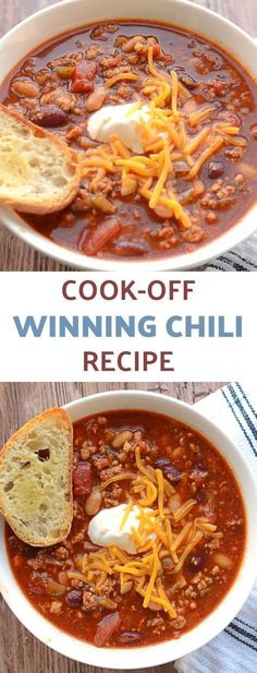 Award Winning Chili recipe is PACKED with warm and comforting flavors. This Homemade Chili is sure to become your favorite winter warmer.