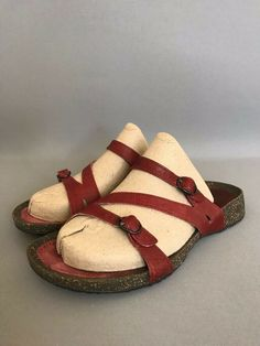 cf9a3ef8d25f3 Details about Teva Womens size 7.5 Ventura Modoc Cork Comfort Sandals Flip  Flops Red Shoes