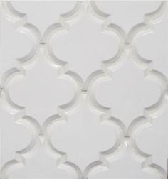Beveled Arabesque Tile Whisper White
