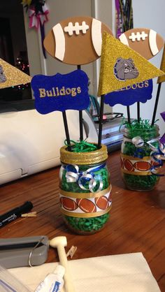 personalized football centerpieces