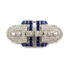 - Art Deco sapphire and diamond double clip brooch by Chaumet, Paris, c.1925,