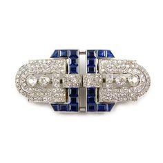 - Art Deco sapphire and diamond double clip brooch by Chaumet, Paris, c.1925,