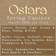 Sabbats and Esbats - Ostara (Spring Equinox) Wicca Witchcraft, Pagan Witch, Witches, Samhain, Which Witch, Vernal Equinox, Beltane, Book Of Shadows, Spelling