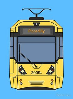 'Manchester Tram Photographic Print by Charlie Care Bus Drawing, Train Drawing, Bolton England, Manchester Buses, British Rail, Salford, Create Image, Aesthetic Iphone Wallpaper, Photographic Prints