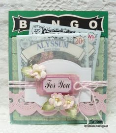Vintage Street Market ~ Bingo Pocket Card with seed packets