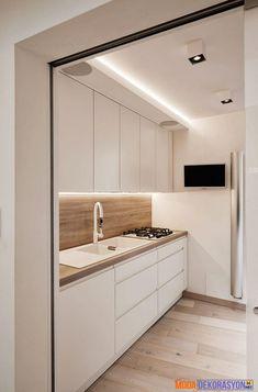 Artistically Renovated Modern Penthouse Apartment in Rome Kitchen Room Design, Modern Kitchen Design, Interior Design Kitchen, Modern Interior Design, Home Design, Home Interior, Interior Architecture, Interior Decorating, Scandinavian Interior