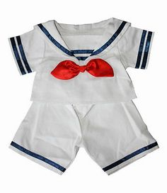 "Sailor Boy Outfit / Teddy clothes to fit 15"" (40cm) Build a Bear / Bear Factory"