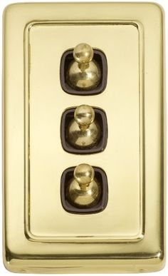 brass copper light switch