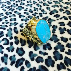 Turquoise gold stacking ring by KatherineRoseDesign on Etsy https://www.etsy.com/listing/494238812/turquoise-gold-stacking-ring