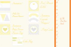 Baby Shower Printables by Kim Stoegbauer
