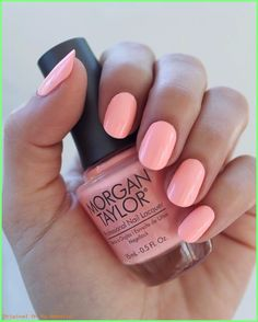 """Summer Nails Designs 2019- """"All About The Pout"""" Morgan Taylor 2017 Selfie Summer Collection #nicesummercolorsnails #summeracrylicnails2019 #summernailscolors #summernailsgelmanicure"""