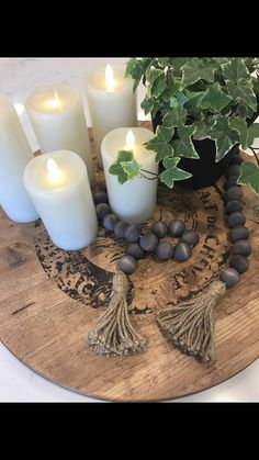 Gray Wood Bead Garland Boho style Garland with Tassel Farmhouse Decor Farmhouse Style Farmhouse Wood Bead Garland, Beaded Garland, Country Farmhouse Decor, Farmhouse Style, Farmhouse Addition, Bead Crafts, Diy Crafts, Grey Wood, Wooden Beads
