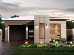 Weeks building group offering unique design and construction for Custom Home Builders Adelaide. Modern Small House Design, Modern Villa Design, Simple House Design, House Front Design, Minimalist House Design, Bungalow House Plans, Bungalow House Design, Modern Bungalow, Model House Plan