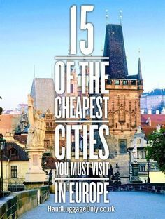 Reisen in Europa - die 15 günstigsten und aufregendesten Hotspots - von Prag bis Riga *** 15 Of The Cheapest Cities In Europe That You Need To Visit! - Hand Luggage Only Backpacking Europe, Europe Travel Tips, European Travel, Travel Advice, Budget Travel, Travel Guides, Places To Travel, Travel Destinations, Places To Visit