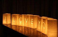 Paper Bag Lanterns – I Love You