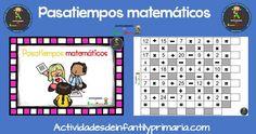 Practicamos la suma,resta , multiplicación y división con estas fichas de pasatiempos.  Pasatiempos matemáticos para primaria  Descarga el recurso en formato PDF Pasatiempos matemáticos…