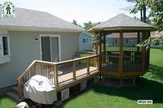 gabezo in deck ideas | deck and gazebo plan is for a medium size rectangular deck and gazebo ...