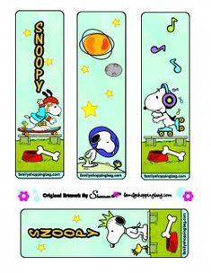 Snoopy printable Bookmarks