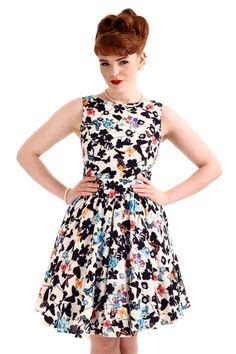 Yellow Floral Tea Dress  Vintage Tea dresses and Skirts
