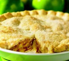 VEGAN DOUBLE-CRUSTED SPICED APPLE PIE: 23 cm glass pie plate, greased, 1 Large-Batch All-Purpose Vegan Pastry Dough, chilled (see recipe). Ingredients: 6 large Granny Smith apples (thinly sliced), 1 C (250 mL) granulated sugar, 1⁄4 C (50 mL) flour, 1 tsp (5 mL) ground cinnamon, 1 tsp (5 mL) ground nutmeg, 1⁄2 tsp (2 mL) ground allspice. Brush top with soy milk & sugar for top. Cook 220C for 25mins, reduce to 180C for 50-60mins - or pre-bake dough & cook less time at 180C until top browns.