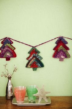 Tree Garland | crochet de Hoy. Tutorial ❥Teresa Restegui http://www.pinterest.com/teretegui/❥