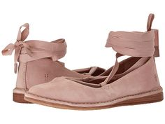 Frye Holly Ankle Tie Blush Oiled Nubuck | Zappos.com