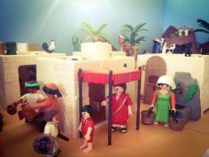 Playmobil Sets, Ideas Para, Portal, Diys, Kindergarten, Miniatures, Indian, Romero Britto, Nativity Scenes