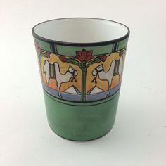 Antique Morimura Nippon Cup With Egyptian Motif Camel Pyramids Lotus #Nippon