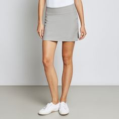 Nala 2 Performance Skort in Light Grey, by Calm Collected Crew Clothing, Skorts, Women Wear, Mini Skirts, Calm, Grey, Interior, How To Wear, Clothes