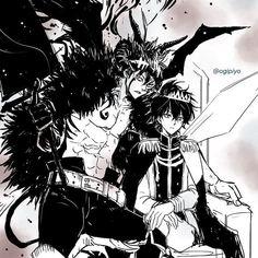 Asta e Yuno Cute Anime Character, Character Art, Clover Tattoos, Black Clover Manga, Hxh Characters, Anime Crossover, Dark Anime, Dark Fantasy Art, Anime Demon