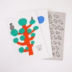 Risograph post card set by Mogu Takahashi.