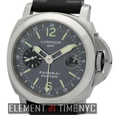 Officine Panerai Luminor GMT 44mm iN Titanium With An Anthracite Arabic Dial Circa 2002 (PAM 89)