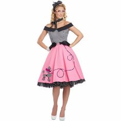 e enseignantes caniche robe jupe adultes Fantasias Halloween carnaval sorcière Costumes cosplay Robin Hood costume Poodle Skirt Halloween Costume, Costumes Sexy Halloween, Halloween Kostüm, Costume Dress, Girl Costumes, Adult Costumes, Costumes For Women, 1950s Costumes, 70s Costume