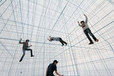 A Massive Inflatable String Jungle Gym by Numen