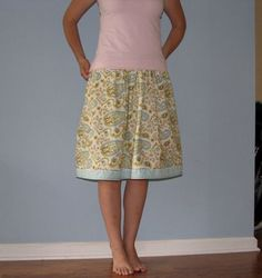 Better version of the 20 minute skirt, I prefer this length and I love the cute hem.