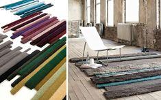 Alfombras en tiritas - Decofilia.com Outdoor Furniture, Outdoor Decor, Sun Lounger, Rugs, Color, Home Decor, Farmhouse Rugs, Modern Rugs, Minimalism
