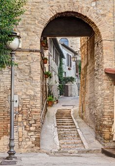 Ancient Alley in Bevagna, Italy wall mural