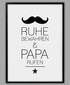 "Smart Art ★ Kunstdruck ""Papa rufen"""