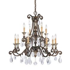 St. Lawrence Twelve Light Chandelier Savoy House Candles Without Shades Chandeliers Ceilin