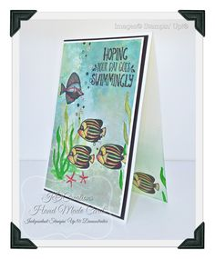 Welcome !   Today am sharing some cards I made using the stamp set 'Seaside Shore'.   I have had this set for a little while now, j...