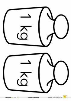 Plantillas para el peso: 1 kg, kg y kg Libra, Math 2, Homeschool Math, Science Experiments, Teaching Math, Teaching English, Clip Art, Letters, Literacy Activities