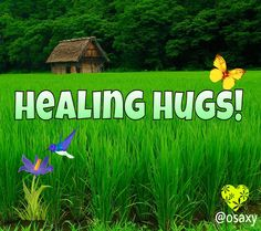 """Healing Hugs.... To all my fellow pin pals trying to find their """"Happy Place""""!"""