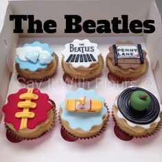 Beatles themed cupcakes.