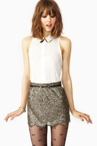 Scalloped Sequin Skirt in Clothes Bottoms at Nasty Gal Mode Style, Style Me, Look Fashion, Womens Fashion, In Pantyhose, Trends, Transgender, Passion For Fashion, Dress To Impress