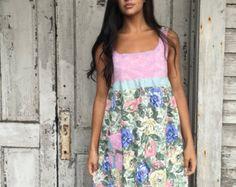 Helena dress-small medium-artsy-Eco от lovehigher на Etsy