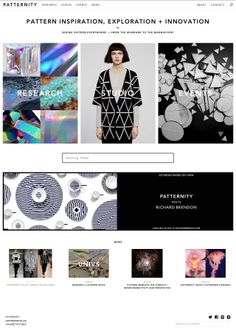 Patternity Web Design, Graphic Design, Website Layout, Wireframe, Fashion Websites, Fashion Photography, Studio, Pattern, Inspiration