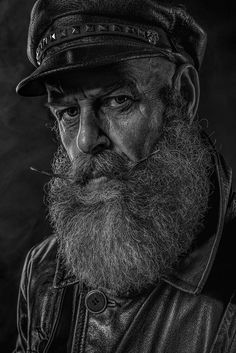 """The Old Sailor"" — Photographer: Christian Braumann – Geisterpixel Model: Tom Jung Old Man Portrait, Old Portraits, Portrait Art, Fotografie Portraits, Old Man Face, Old Faces, Face Photography, Realistic Drawings, Interesting Faces"