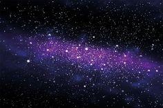 Fototapete Sterne - Wandbild Dekoration Kinderzimmer Weltraum Stars Galaxy Sky…