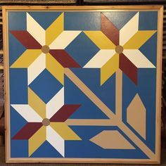 3 Flower - 4X4 By: Barn Quilts of Wabash County