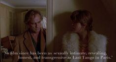 Last Tango in Paris (Bernardo Bertolucci, 1972). Roger Ebert Great Movies